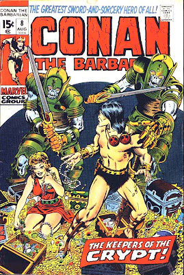 Conan the Barbarian v1 #8 marvel comic book cover art by Barry Windsor Smith