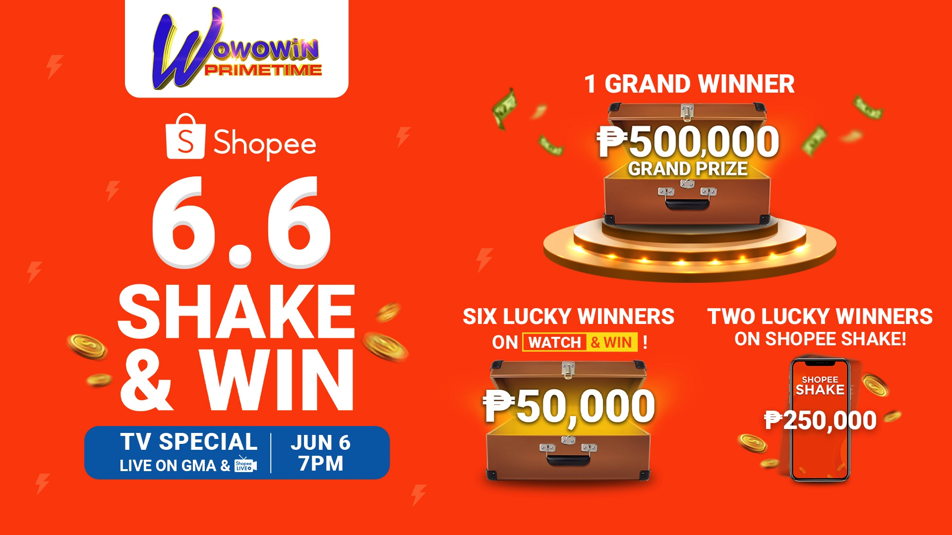 Shopee 6.6 Shake & Win TV Special