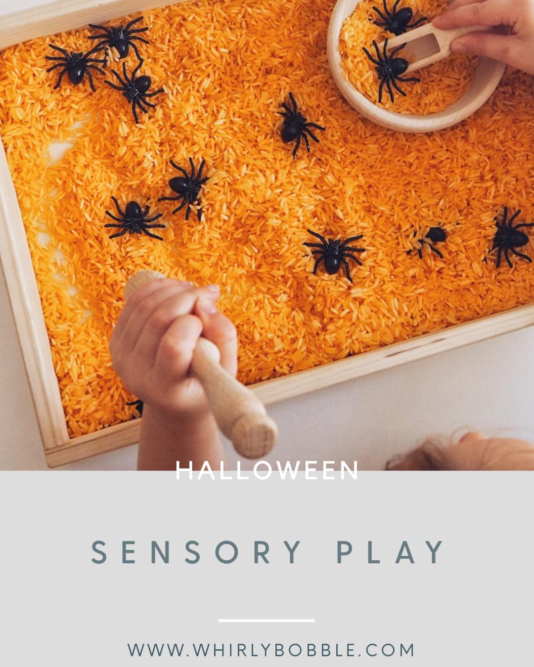 halloween sensory rice