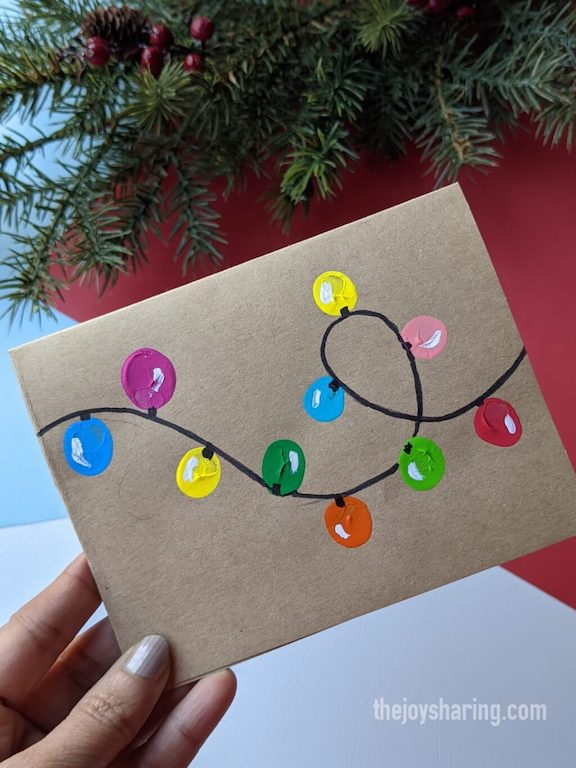 how to make fingerprint xmas greeting card?