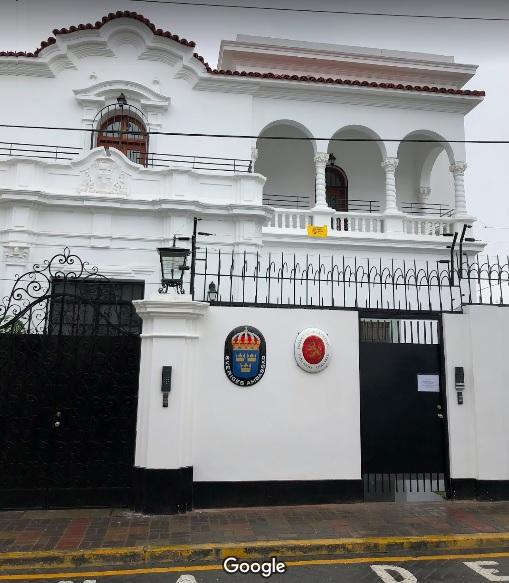Embajada de Suecia en Perú