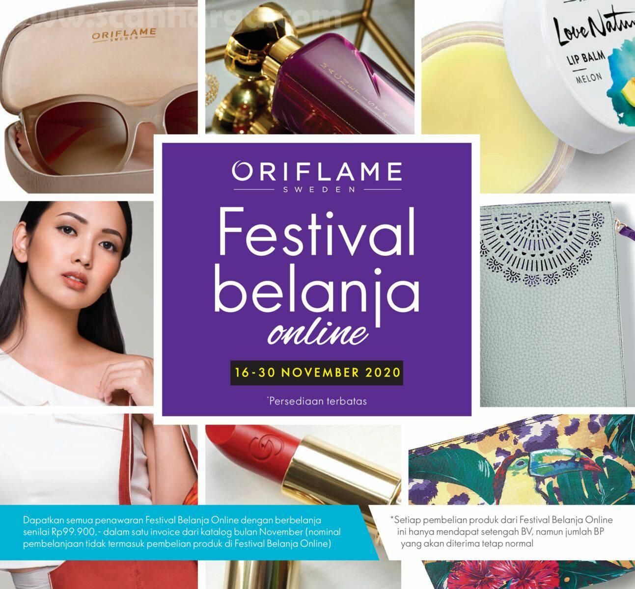 Promo Oriflame Festival Belanja Online 16 - 30 November 2020