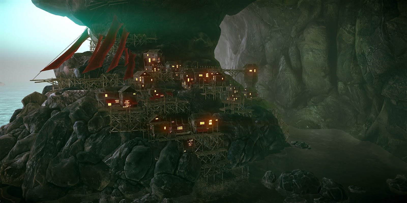 Storm City Wallpaper Hd 3d Art Of Danny Weinbaum Fantasy Cavern City Cryengine 3