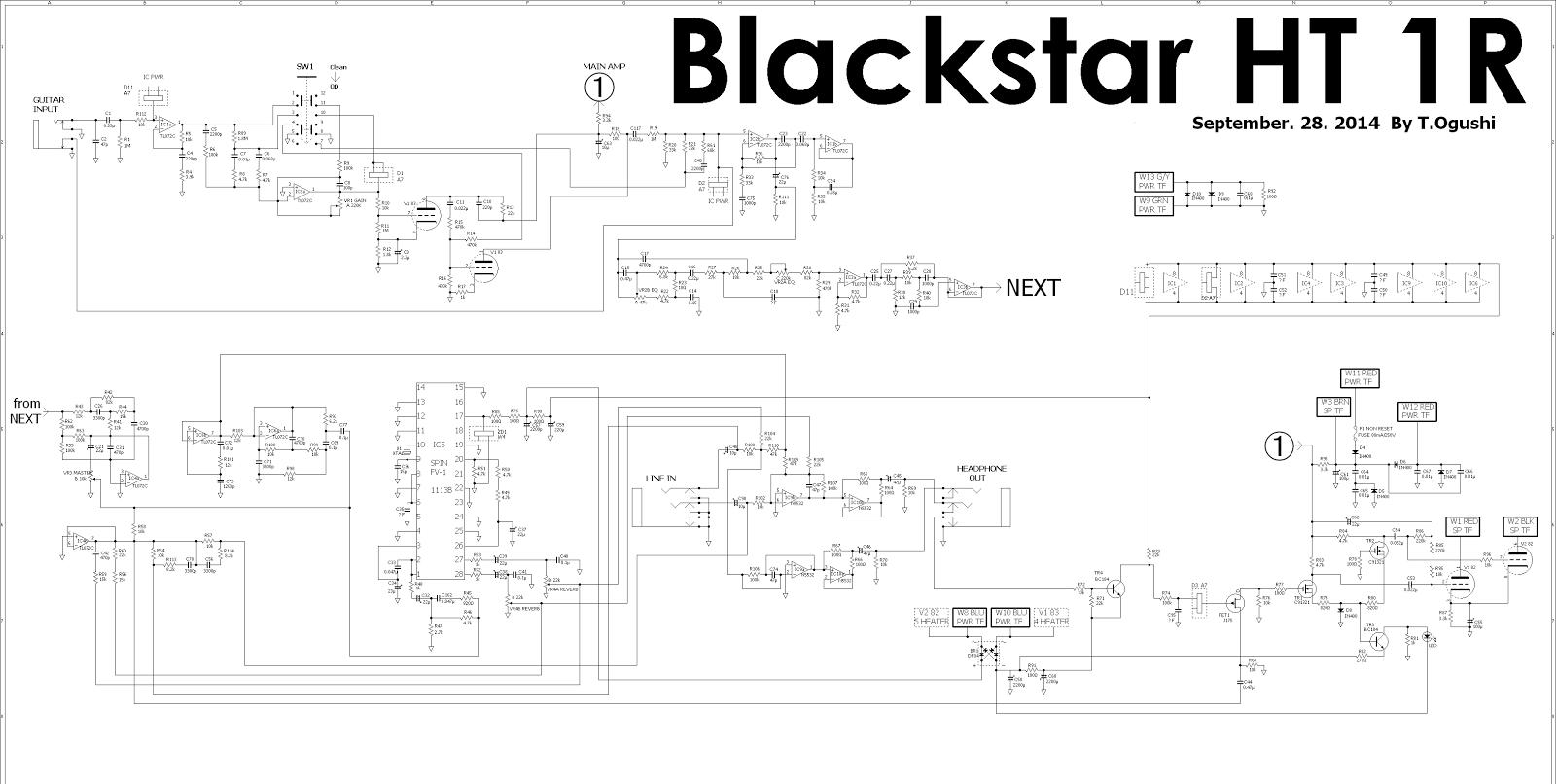 Hardrocker Blackstar Ht 1r Schematic Not Official