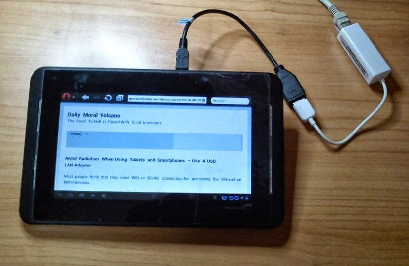 เพิ่ม Port Lan ให้ Tablet Android ด้วย USB Lan Adapter