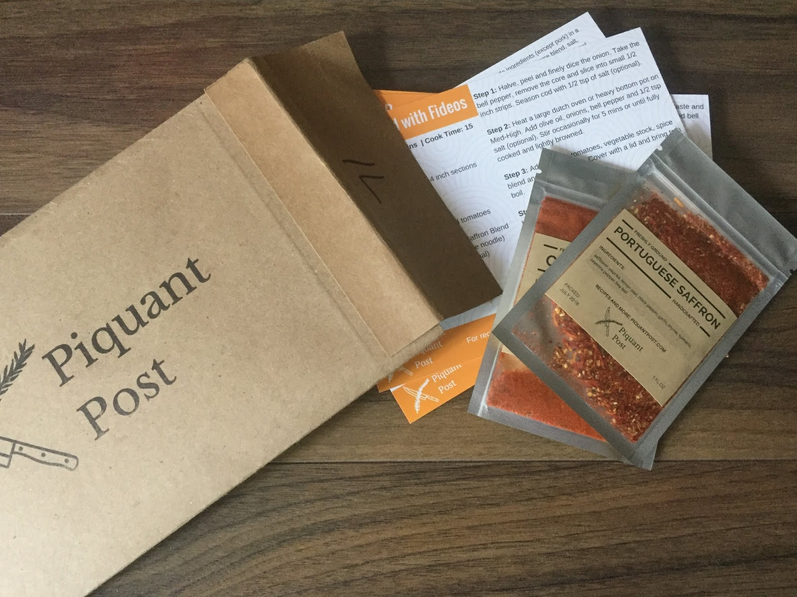 Piquant Post Review July 2018 Spice Subscription Box Promo Code