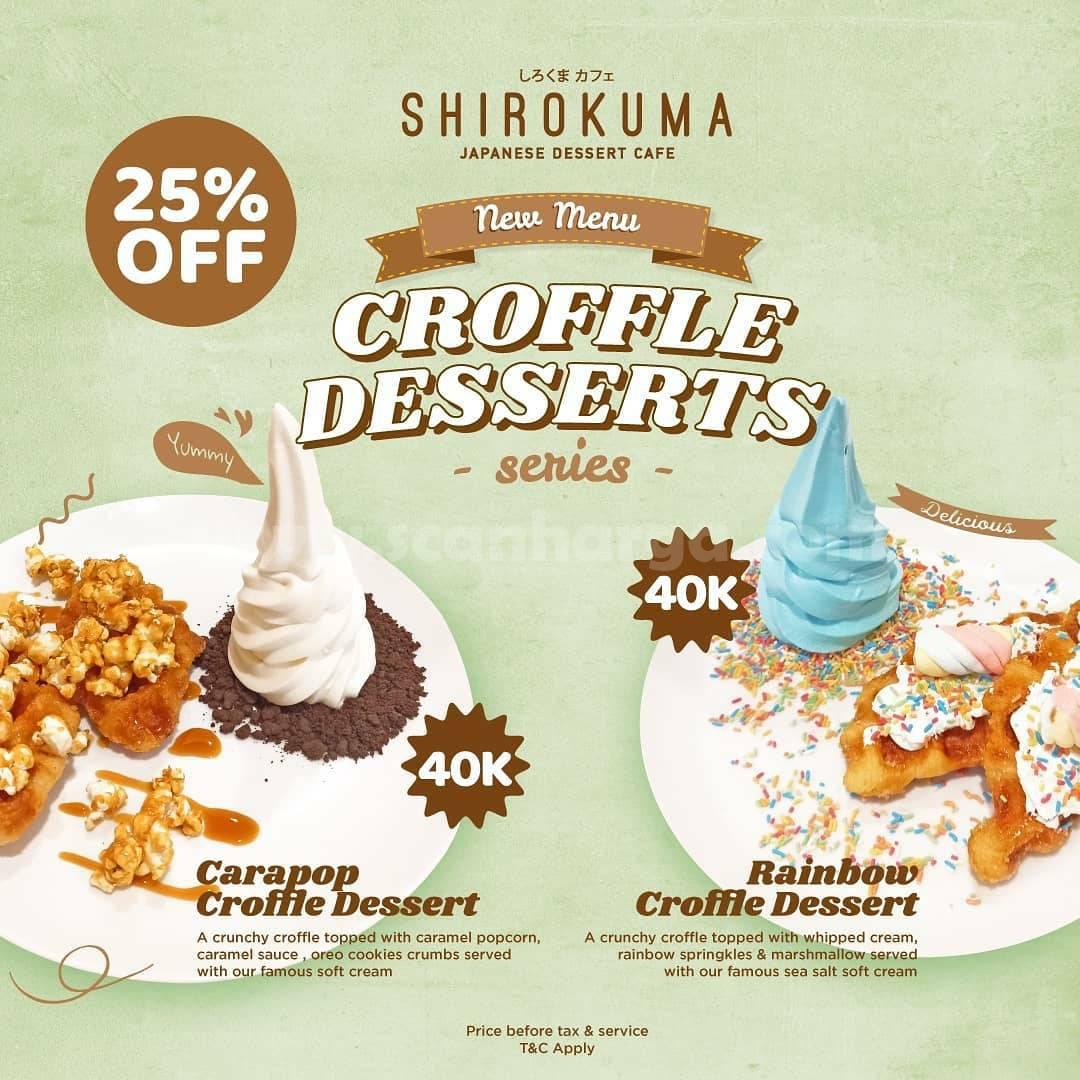 SHIROKUMA Croffle Dessert Series – harga hanya Rp. 40 Ribuan