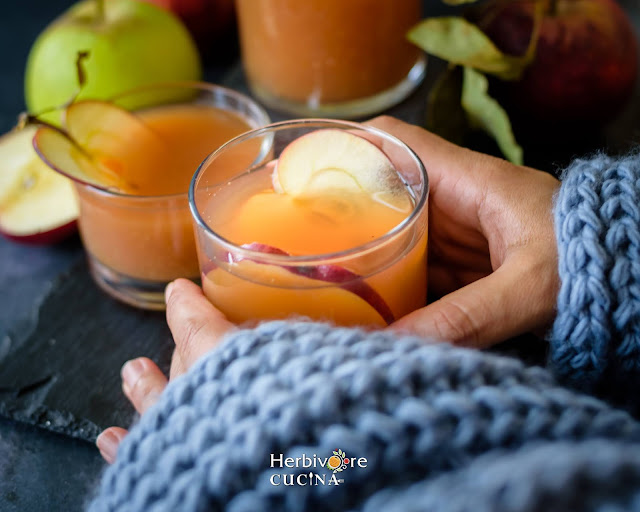 Instant Pot Apple Cider in a glass