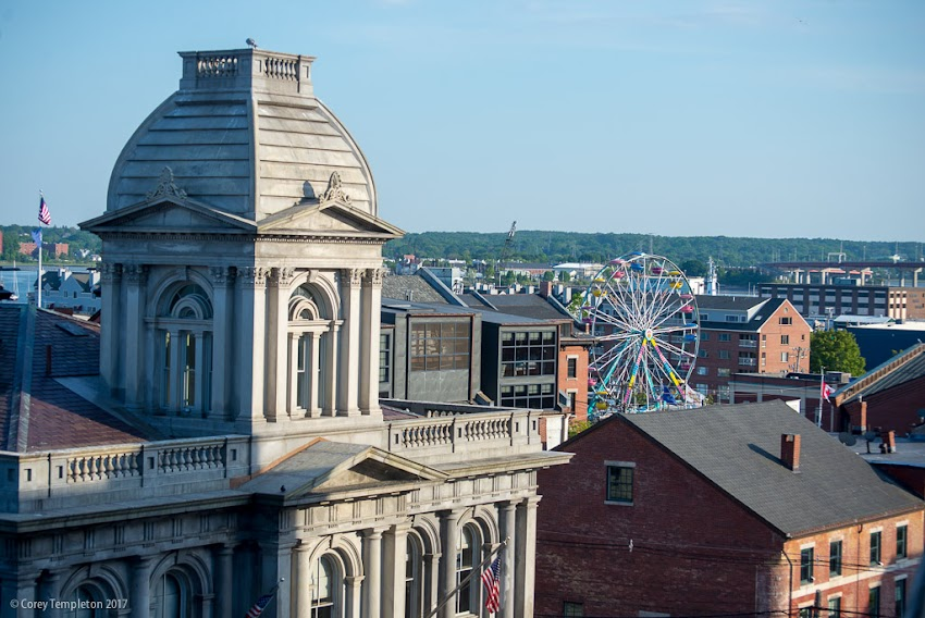 Portland, Maine USA June 2017 photo by Corey Templeton. The ferris wheel is set up off of Commercial Street, it must be time for the Old Port Festival and the unofficial start of summer.