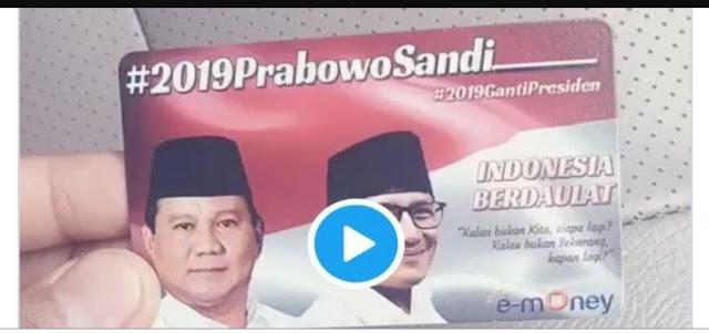 Bank Mandiri Mau Polisikan Pembuat e-Money Bergambar Prabowo-Sandi