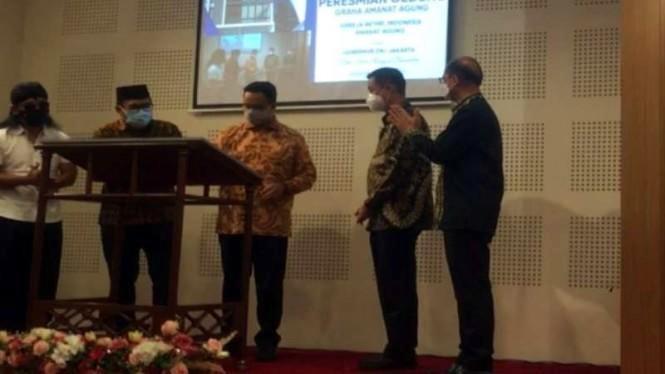 Anies Baswedan Bersama Gus Miftah Resmikan Gereja di Penjaringan