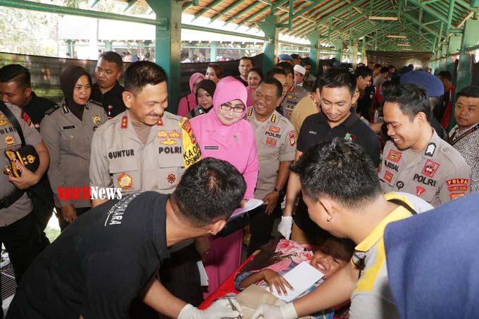 Kapolda Sulsel, Pantau Pelayanan Kesehatan Gratis Giat Biddokkes dan RS Bhayangkara