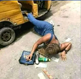 Guy Pushed His Girl Friend out of A Moving Keke Na Pep Because She Was on Her Period