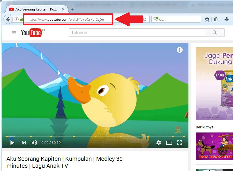 URL halaman video