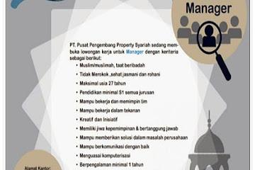 Lowongan Kerja Manager Kampung Tahfidz Bojongsoang