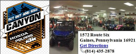 Canyon Motorsports, Gaines, PA