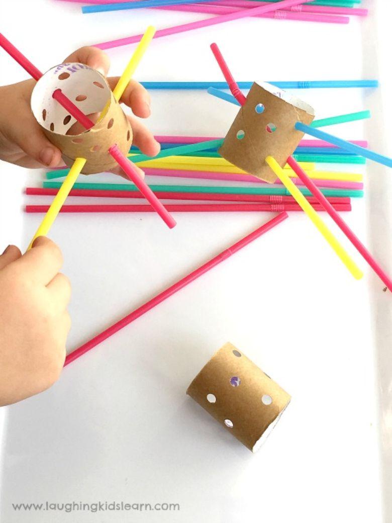 cardboard tube fine motor activity