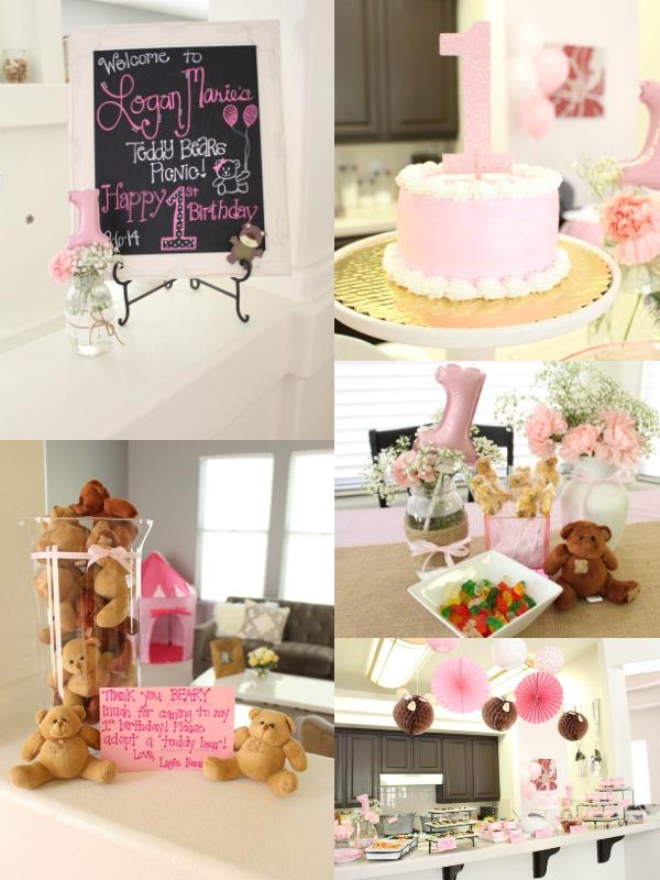 Teddy bear picnic girl birthday theme.