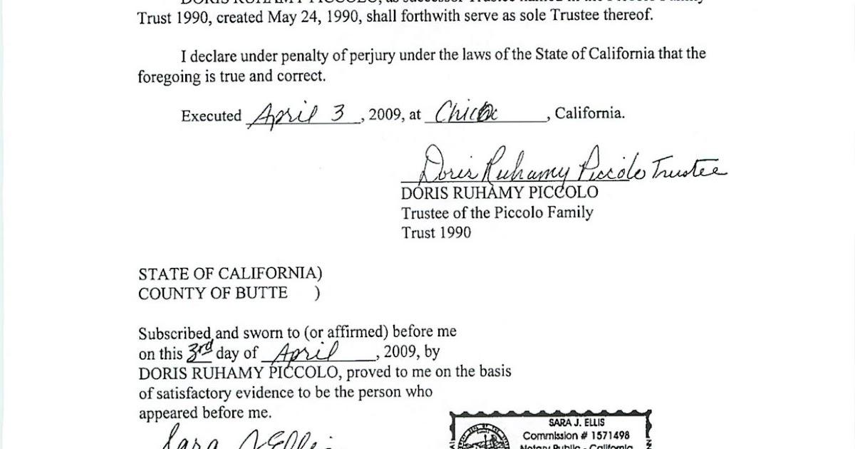 Estate Planning in California: Acknowledgement vs. Jurat