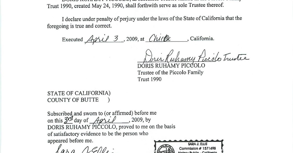 Estate Planning In California Acknowledgement Vs Jurat