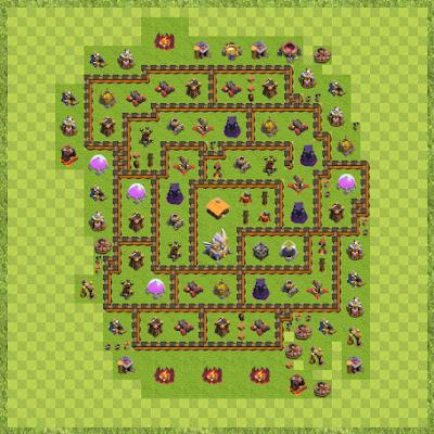 War Base Town Hall Level 11 By NinjaArya (EPIC TH 11 Layout)