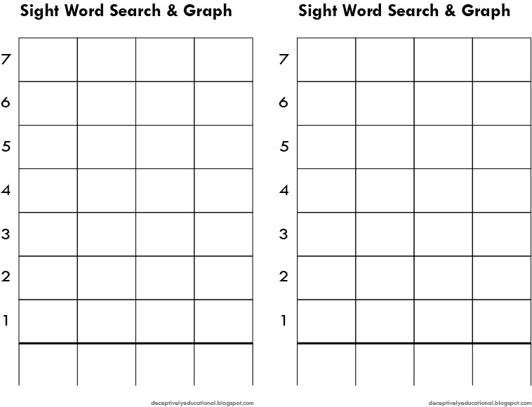 Sight Word Search Graph – Download Graph Paper for Word