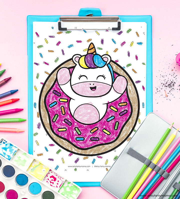 Free Printable Donut Coloring Page
