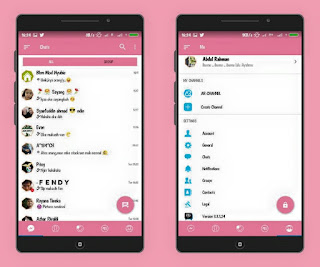 BBM MOD Tema Pink v3.3.1.24 APK