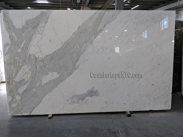 White Marble Calacatta Gold Slab