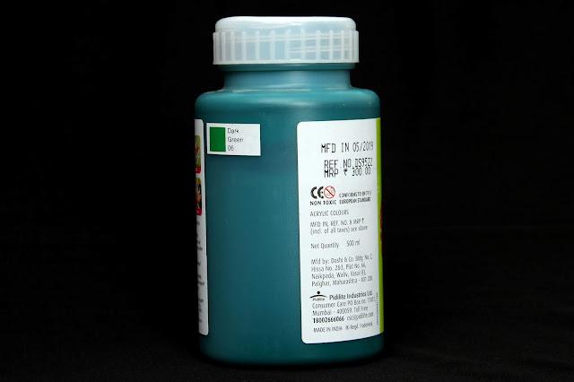 fevicryl fabric colour dark green 06
