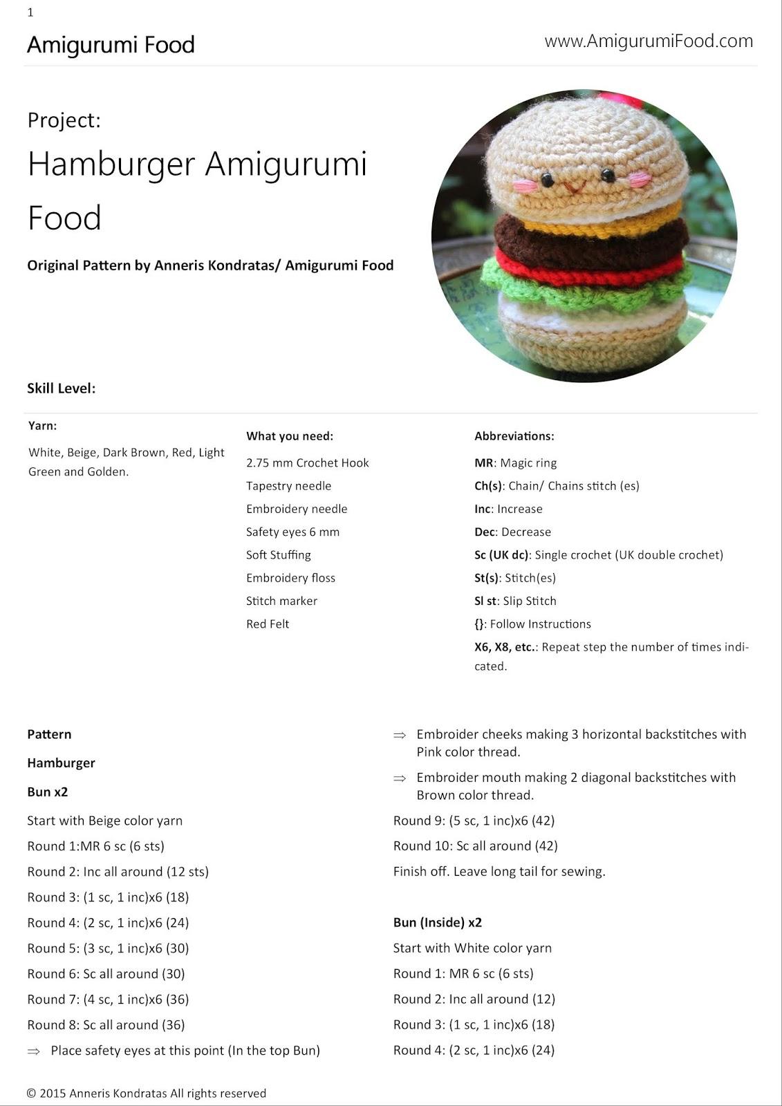 New Free crochet pattern Tea Bag Amigurumi food - Amigurumi ...   1600x1131