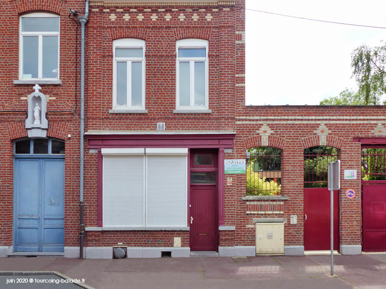 Niche murale de l'École Saint Christophe, Tourcoing 2020