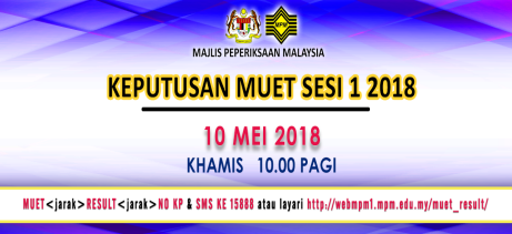 semak result muet mac 2018