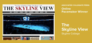 Screencap of Skyline View website alongside their award