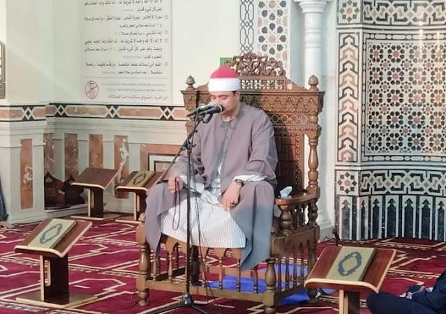 وزير الأوقاف ومحافظ البحيرة ومفتي الجمهورية يفتتحون مسجد عمر بن الخطاب بالبحيرة .