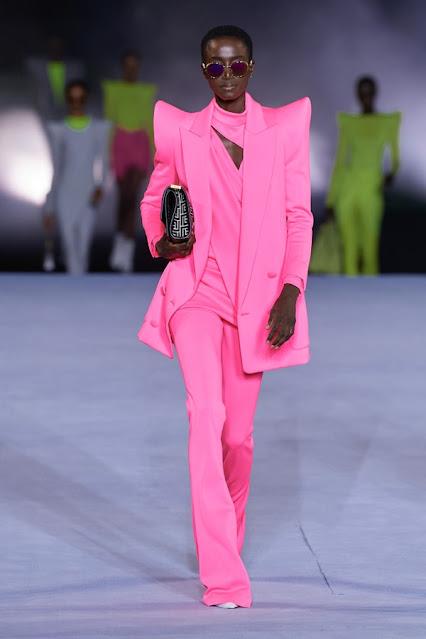 SS21, Fashion Show, Monochrome, trend report, fashion week, nyfw, Nyc, kelly fountain fashion, Balmain