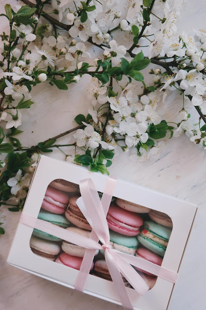 Boxed macarons Photo by Brigitte Tohm on Unsplash