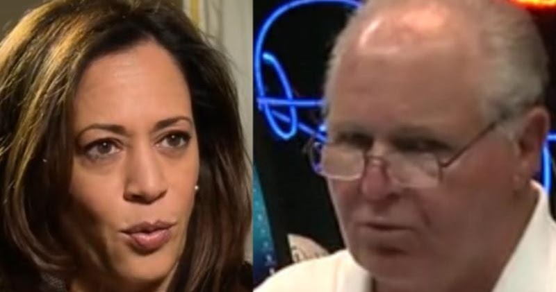 Rush Limbaugh Finds Skeleton In Kamala Harris' Closet, Ruthlessly Exposes It