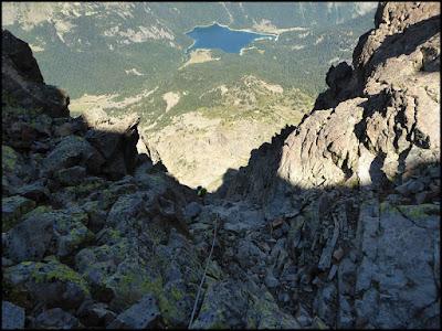 Llegando a la cima desde la Fourche