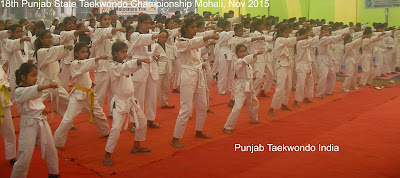 18th Punjab State Taekwondo Championship under PTA 'Punjab Taekwondo Association' at Mohali near Chandigarh, India