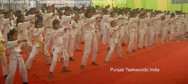 18th Punjab State Taekwondo Championship under PTA 'Punjab Taekwondo Association' at Mohali near Chandigarh, India