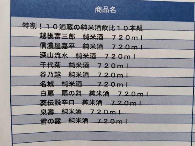 ベルーナの日本酒純米酒 特割 全国10酒蔵 純米酒 飲み比べセット 10本組 720ml を購入して飲んだ感想とレビュー