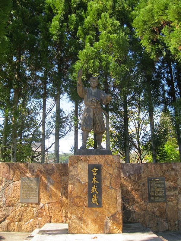 Statue of Miyamoto Musashi.