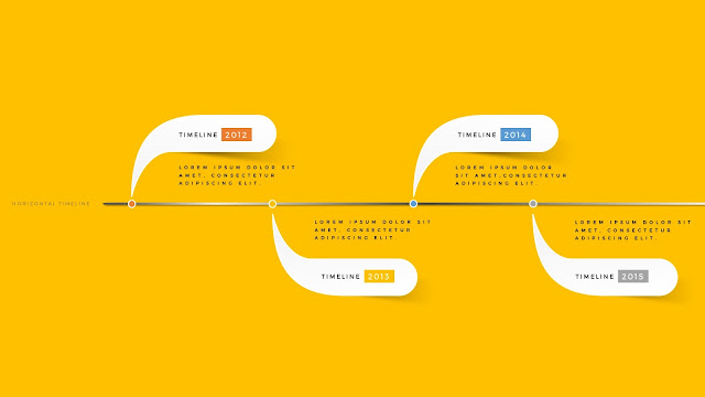 Horizontal timeline for PowerPoint Template Type C First Slide