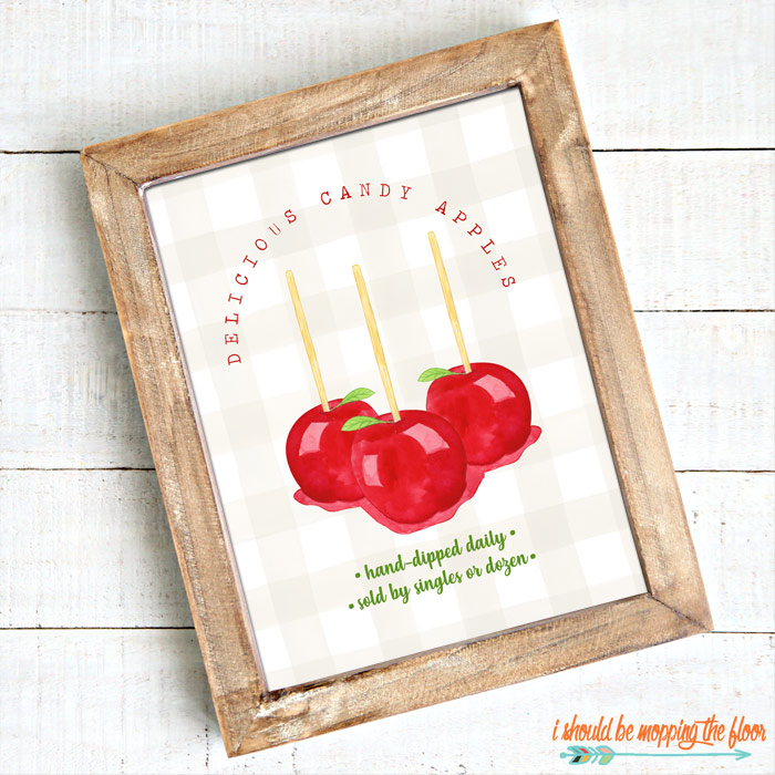 Candy Apple Printables