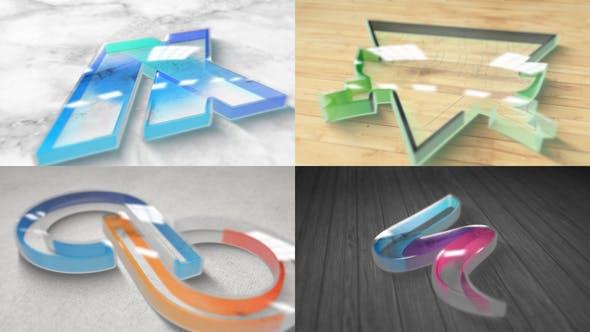 Videohive - Perspex Plastic Logo Reveal
