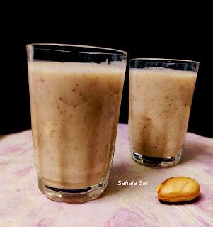 Jackfruit seed milkshake