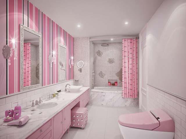 10 Desain Kamar Mandi Minimalis Hello Kitty Design Rumah