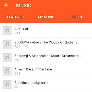 Select music/song