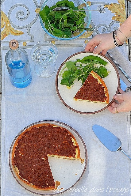 Tarte-ricotta-tomate-basilic-thym-ottolenghi